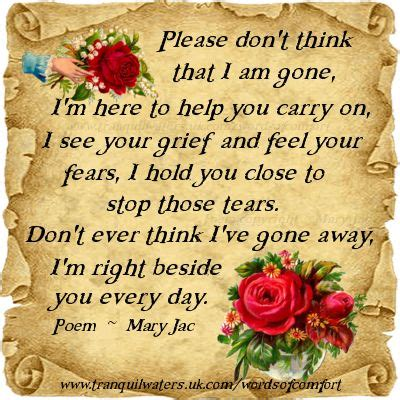 comforting poems for loss of loved one loved ones looking back and words on pinterest