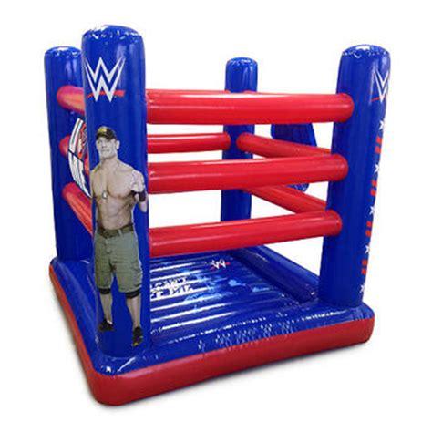 John Cena Bedroom Decor Wwe Ring Style Inflatable Bouncer John From Toysrus