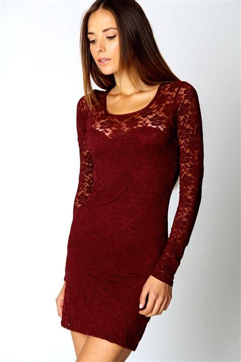 Bodycon Dress boohoo sleeve lace bodycon dress