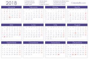 Calendar 2018 Romana Calendar 2018