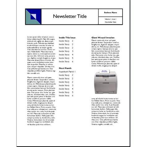 Three Column Newsletter Template Dtk Templates Three Column Newsletter Template