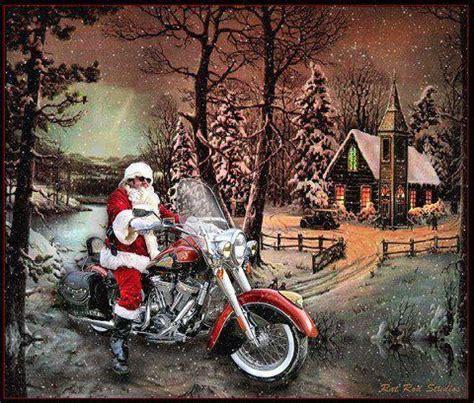 happy harley days motorcycle christmas biker love harley davidson art