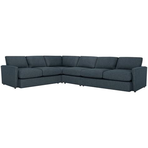 noah sectional city furniture noah dark blue fabric large two arm sectional