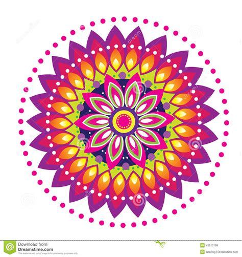 Flower Pattern Mandala Stock Vector Illustration Of Asia