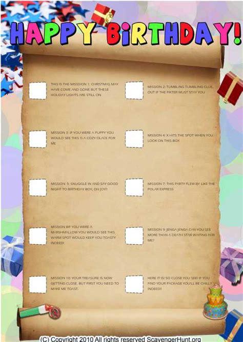 birthday themed riddles birthday scavenger riddles