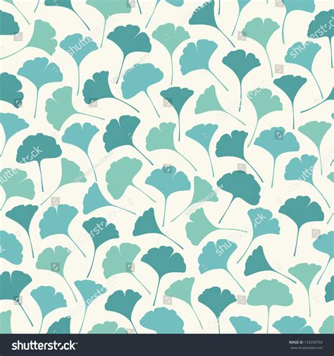 seamless pattern template delicate spring seamless texture leaves endless stock