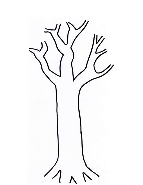 template of tree printable tree template coloring home