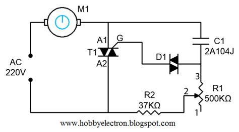 ceiling fan regulator motor speed circuit