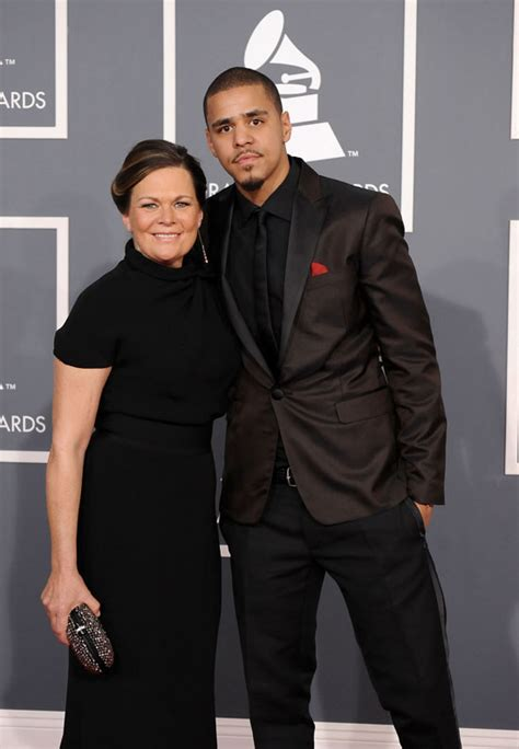 J. Cole with his mother J Cole Parents