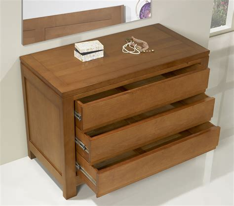 Commode En Chene by Commode 3 Tiroirs En Ch 234 Ne Massif De Style Contemporain