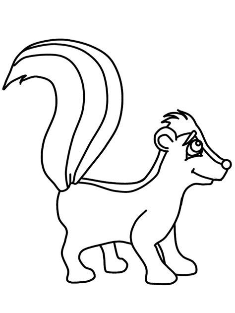 Skunk Coloring Page Coloring Home Skunk Coloring Pages