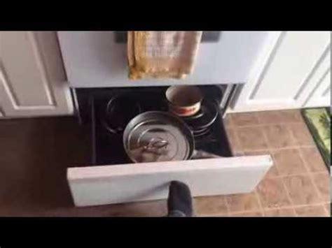 bottom drawer on oven purpose stove drawer stuck or jams diy fix