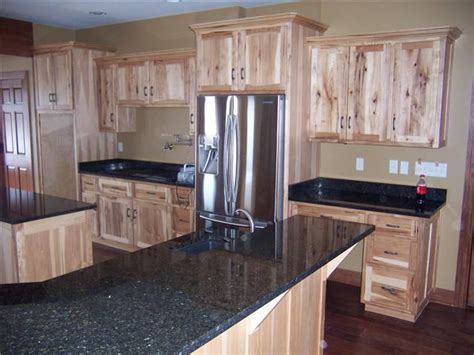 rustic hickory cabinets black laminate countertops ge countertop styles materials ds woods custom cabinets