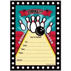 bowling invitations bowling supplies
