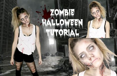 zombie yourself tutorial last minute zombie make up for halloween simple and scary