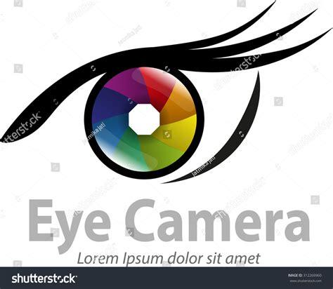 vector shape eye photography logo templates stock vector