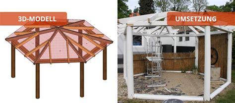pavillon aufbauen pavillon holzbaus 228 tze individuell und zum selber aufbauen