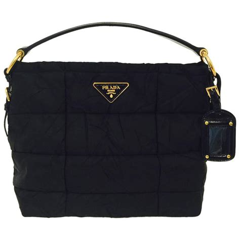 Sale Fashion Black Hardware prada black quilted handbag with patent leather