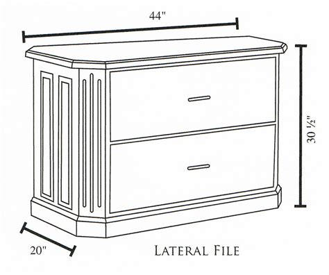 Lateral File Cabinet Dimensions Fifth Avenue 2 Drawer Lateral File Cabinet And Hutch Ohio Hardwood Furniture