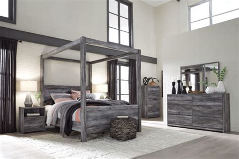 ashley furniture baystorm queen canopy  piece bedroom set   sale  ebay