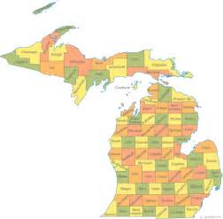 map counties map of michigan