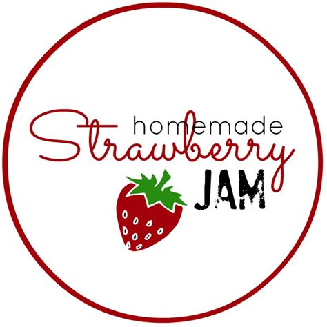 free printable jam label homemade strawberry jam free jam labels homemade