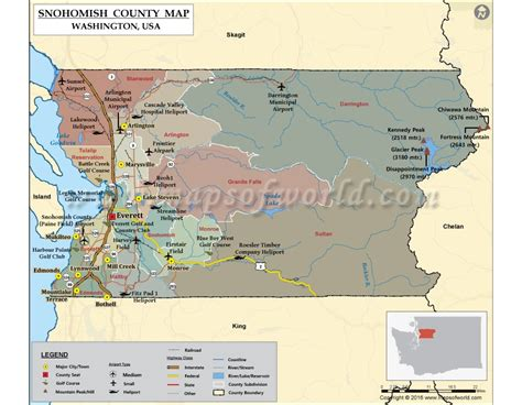 Snohomish County Wa Search Buy Snohomish County Map Washington