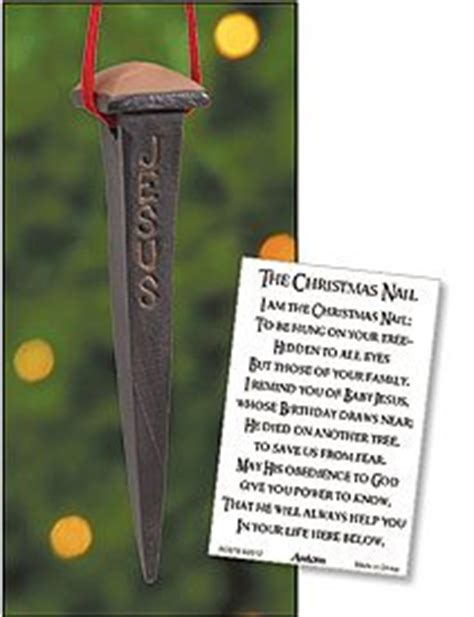 amazon com story of the christmas nail jesus remembrance