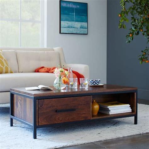 wood and metal coffee table metal wood coffee table west elm