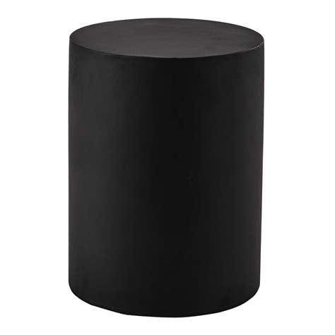 Kulit Kendang Diameter 30 Cm bijzettafel zwart kunsthars diameter 30 cm alvin maisons du monde