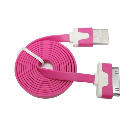 Taffware Normal Braided Charging Sync Data Cable Iphone 30 Pin 4 1m taffware flat noodle charging sync data cable for iphone 4 4s 1m jakartanotebook