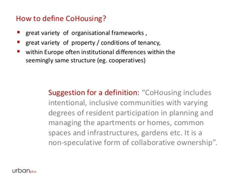 cooperative housing definition co housing good practice of community driven and self organised hou