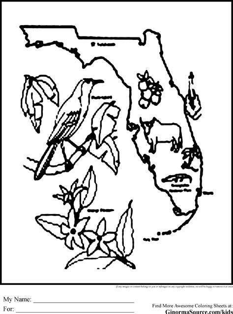florida coloring pages coloring pages state outline