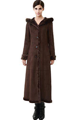 Maxi Pocket Comhi Abu bgsd s quot pauline quot hooded faux shearling maxi coat