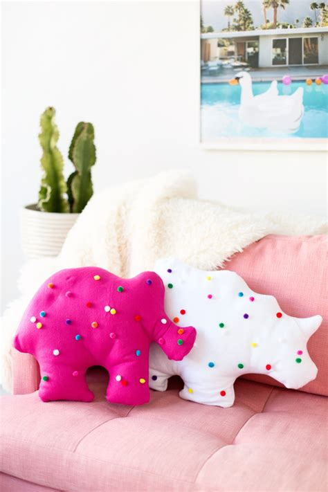 How To Make A Pillow At Home by Bold Diy Circus Animal Cookie Pillows Shelterness