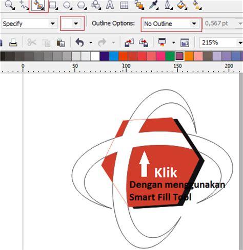 cara membuat warna pattern pada objek tutorial coreldraw cara membuat logo telkomsel kumpulan