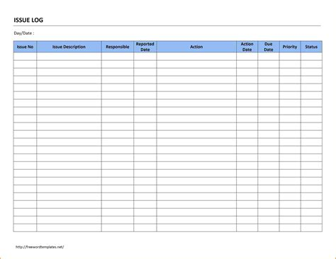 Template Submittal Schedule Template Issue Log Free Word Templates Construction Submittal Free Construction Submittal Log Template