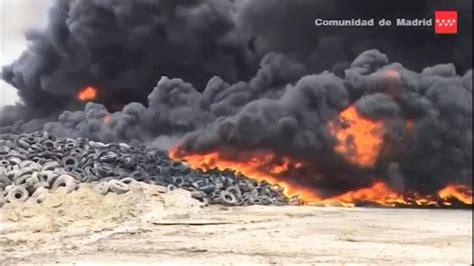 thousands evacuated  huge fire  europes biggest tire dump  spain nbc news