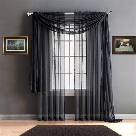 Charcoal Sheer Curtains Warm Home Designs Charcoal Window Scarves Sheer Charcoal Curtains Warmhomedesigns