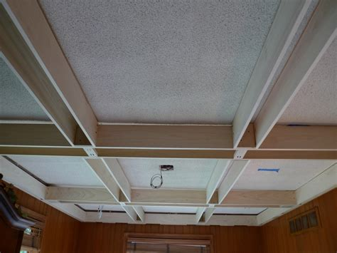 how to build a faux coffered ceiling www energywarden net