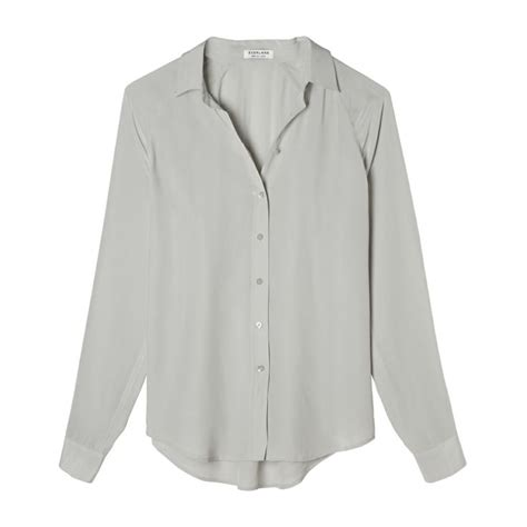 Raglan Bouton Tunic Light Gray Gray 17 best images about clothing on grey blouse