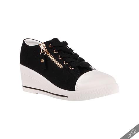 heel high tops womens canvas high tops heel wedge trainers