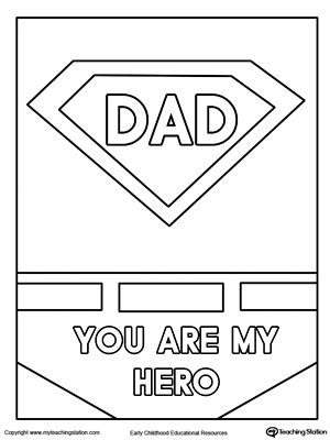 superhero dad coloring page father s day card superhero outfit worksheets