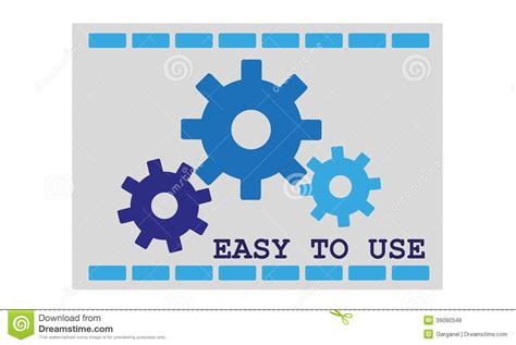 easy to use easy to use icon stock illustration image 39090348