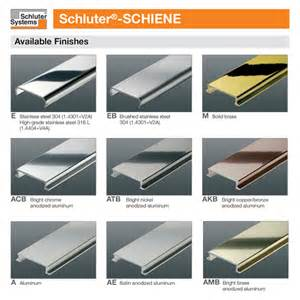 schluter colors schluter schiene m edge solid brass tile trim 2