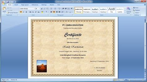 certificate in word how to make your own certificate in word learn ms word