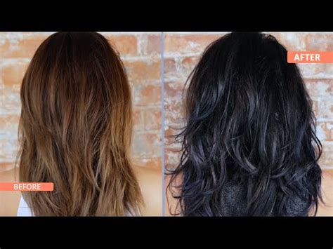 what to dye your hairwhenits black how to black blue ombre dip dye your hair youtube