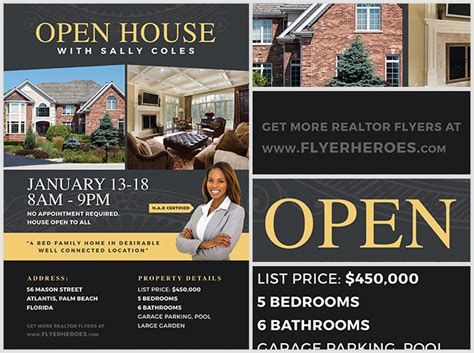 free open house flyer template open house flyer template 2 flyerheroes