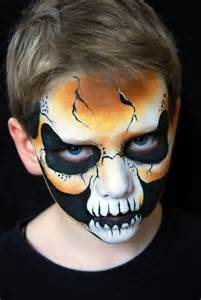 halloween face paint design gallery for gt skeleton face makeup for kids
