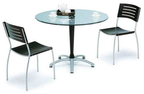 contemporary glass top designer table and chairs set